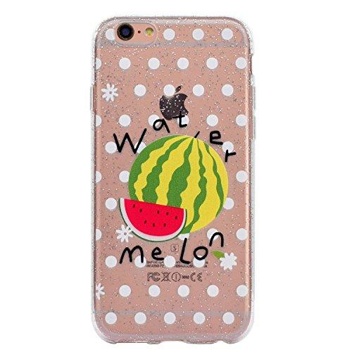 Custodia Cover Per Apple iPhone 6 / 6S 4.7 , WenJie cactus Trasparente Silicone Sottile Back Case Molle di TPU Trasparente per Apple iPhone 6 / 6S 4.7 MM55