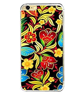 Fuson Floral Painting Art Designer Back Case Cover for Apple iPhone 6 Plus :: Apple iPhone 6+ (Abstact Art Paint Painting Illustrations)