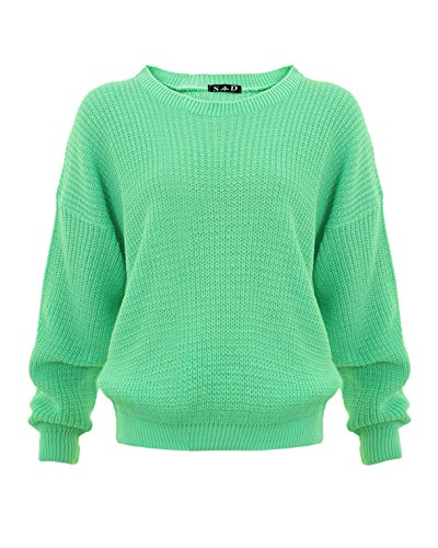 Style Divaa® Ladies Chunky Knitted Baggy Jumper