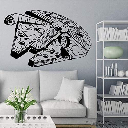 Wandaufkleber Schlafzimmer Star Wars Millennium Falcon Fighter Wohnzimmer Vinyl Wandtattoo Aufkleber Für Home Fenster Dekoration Millennium Gläser