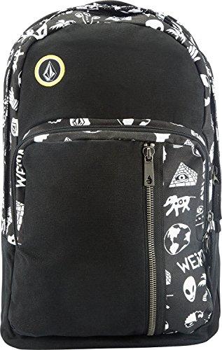Volcom, Zaino Uomo Prohibit Canvas Backpack, Nero (Black White), 48 x 30 x 7 cm