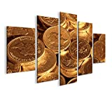 islandburner Bild Bilder auf Leinwand Gold Münzen MF XXL Poster Leinwandbild Wandbild Dekoartikel Wohnzimmer Marke