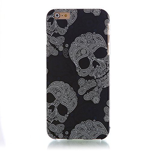 "RE:CRON® iPhone 6 Plus (5,5"") Design Hülle Cover Case – Retro 1930 Muster Totenköpfe"