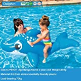 Un Branded NewBaby Swimming Ring Shark Seat Inflatable Flamingo Swan Pool Float Baby Summer Water Fun Pool Toy Kids Swimming Pool Accessories Dolphin