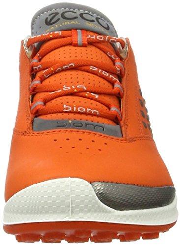 Ecco Womens Golf Biom Hybrid 2, Scarpe da Golf Donna Orange (1604FIRE)