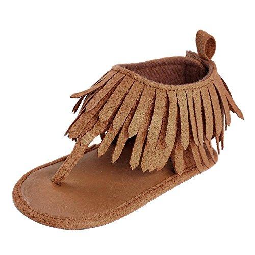 Krabbelschuhe Kleinkind Kinder Mädchen Jungen Weiche Sohle Krippe Kleinkind Neugeborene Quasten Sandalen Schuhe Babyhausschuhe