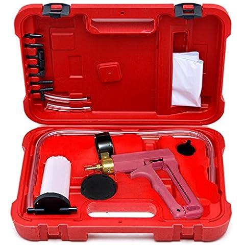 Biltek® 2 In 1 Brake Bleeder & Vacuum Pump Gauge Test Tuner Kit Tools DIY Hand Tools New Auto Hand Held Brake Bleeder & Vacuum Pump Gauge Test Tester Tuner Tool Kit Set