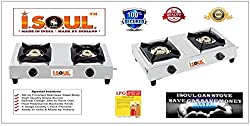 I-SOUL INDIAS BEST SELLING HEAVY BODY SATINLES STEEL GAS STOVE