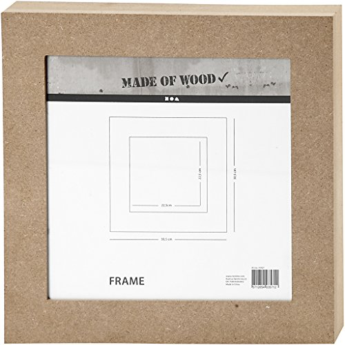 Marco, medidas 30,5x30,5 cm, tallar: 22,5x22,5 cm, MDF, 1ud