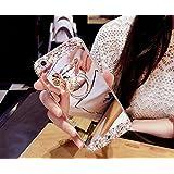 FESELE Coque pour Samsung Galaxy S7 Edge,Samsung Galaxy S7 Edge Coque Silicone Étui Ultra Mince Housse,Samsung Galaxy S7 Edge Souple Coque Etui en Silicone TPU Case Soft Cover,Bling Bling Glitter Sparkle Diamant Miroir Arrière Cas avec Support D'Anneau,Housse de Protection Effet Miroir,Étui TPU souple Miroir Coque Cas Case Cover Couverture Etui pour Samsung Galaxy S7 Edge - Argent#1