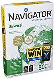 Navigator Universal Carta Premium per ufficio, Formato A4, 80 gr, 1 risma da 500 Fogli