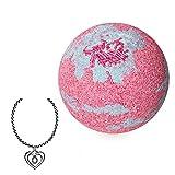 """JewelBath, boule de bain naturelle """"Happy Birthday"""" avec un bijou surprise en argent (Collier)"""