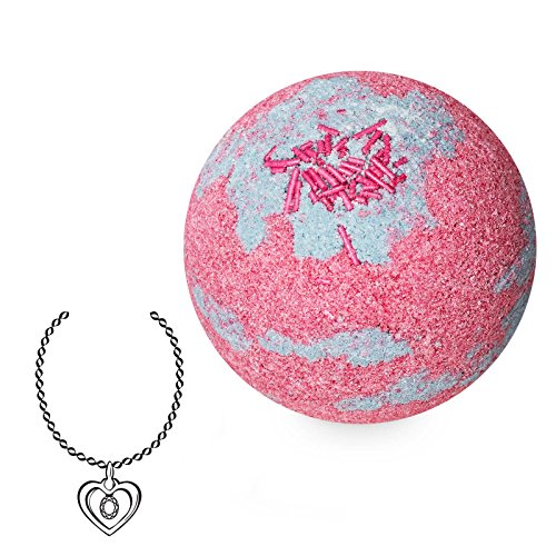 "JewelBath, Boule de Bain Naturelle""Happy Birthday"" avec Un Bijou Surprise en Argent (Collier)"