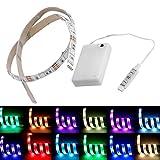 4,5 V Batteriebetriebene 50 CM RGB LED Streifen Licht Wasserdichte Handwerk Hobby Licht Mit Batterie Box (farbe: Multicolor)