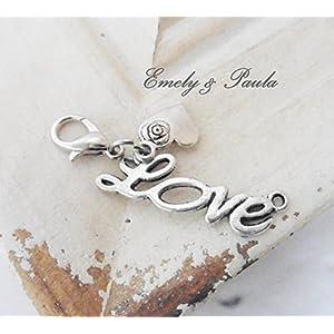 1 Charm Love Herz Valentinstag Karabiner Anhänger