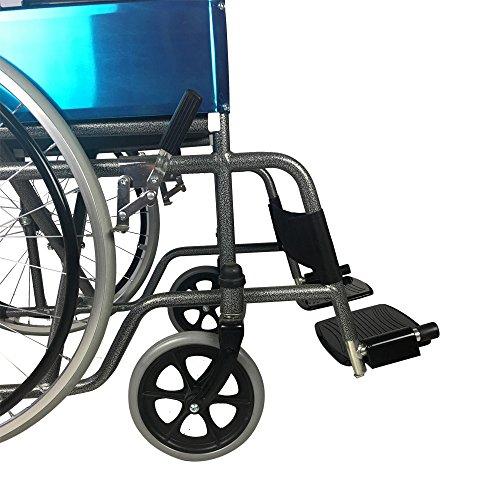 517vqCYRR3L - Mobiclinic Silla de Ruedas Plegable | autopropulsable | Ancho Asiento 46 cm | Negro | Alcázar | Mobiclinic