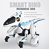 Momola Children\'s Remote Control Dinosaur Robot Toys - Game interaction/Gesture Sensing/Intelligent Voice/Dual Wheel Balance - Rechargeable Electronic Mechanical Dinosaur Toy