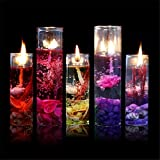 ILOVEDIY 2Stück Glasflasche Kerzen Gelee Wachs Weihnachten Beleuchtung Glänzend Kristall für Geburtstag Party Home Garten Zimmer