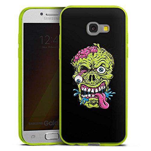 (DeinDesign Slim Case kompatibel mit Samsung Galaxy A5 Duos 2017 Silikon Hülle Ultra Dünn Schutzhülle Zombie Halloween Gruselig)