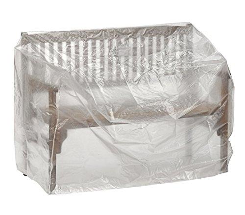 Dehner Gute Wahl Schutzhülle für Gartenbank, ca. 130 x 75 x 80 cm, Polyethylen, transparent