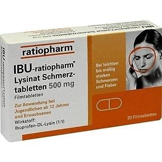 Ibu-ratiopharm Lysinat 500 Tabletten, 20 St.