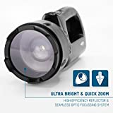 ANSMANN HSL 1 Profi Arbeitsscheinwerfer, 3W / Fokussierbarer Handscheinwerfer mit integriertem Akku und Magnet / Robuste Taschenlampe für Camping, Jagd oder Werkstatt - 4