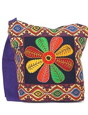Women's Cross Body Bag - Beautiful Tote Beach & Shopper Cotton Fabric Bag - Canvas Travel Bag