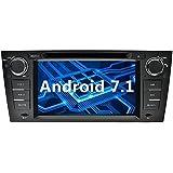 YINUO 7 Pulgadas 1 Din Android 7.1.1 Nougat 2GB RAM Quad Core Pantalla Táctil GPS Navegador Multimedia Estéreo Reproductor De DVD/Radio De Coche HD 1024*600 Para BMW 3 Series 2006 - 2011 E90 E91 E92 E93 2006 - 2011 Soporte DAB/ Control Del Volante Bluetooth/ AV-IN/ 1080p Con DVB-T (Autoradio)