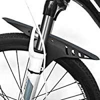 """FETESNICE Actualice Guardabarros para Bicicletas de montaña, Guardabarros de MTB, Guardabarros Delanteros para Bicicletas, se Adapta a 26"""", 27.5"""", 29"""", tamaño de Rueda de engrase más Grande (Negro-B)"""