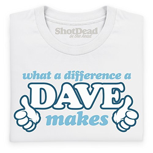 What A Difference A Dave Makes T-Shirt, Herren Weiß