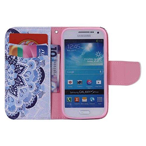 Guran® PU Leder Tasche für Apple iPhone SE / iPhone 5/5S (4 Zoll) Smartphone Flip Deckung Stehen Funktion und Karte Slot Case-Anchors color8