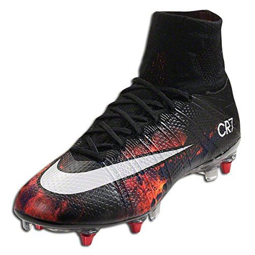 Nike Mercurial Superfly Cr Sg-Pro, Chaussures de Football Homme Multicolore - Varios colores (Negro / Blanco / Naranja / Negro (Black / White-Total Crimson-Blk))