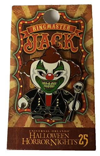 Universal Studios Halloween Horror Nights 2015 25th Anniversary Jack the Clown As The Ringmaster Metal Trading Pin Black Variant by 2015 Halloween Horror Nights
