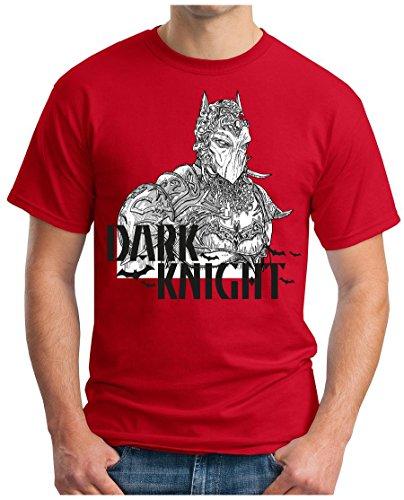 OM3 - DARK-KNIGHT - T-Shirt CLOWN JOKER PINGUIN Mr. FREEZE JACK GHC EMO SWAG GEEK Rot