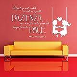 Adesiviamo Papa Francesco Fate la Pace Wall Sticker Adesivo da Muro