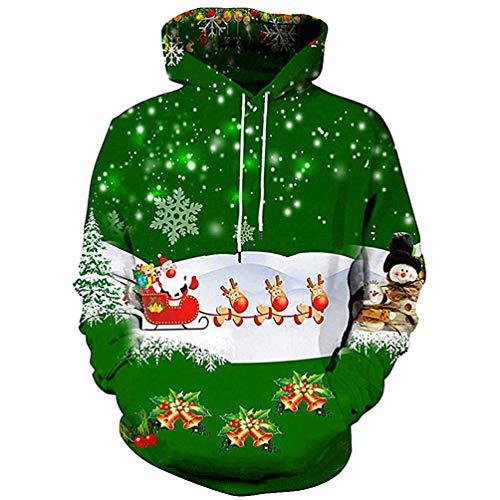 MIRRAY Herren Weihnachten Pullover 3D Mode Lustig Gedruckt -