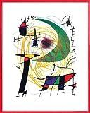 1art1 Joan Miró Stampa d'Arte e Cornice (Plastica) - La Lune Verte (50 x 40cm)