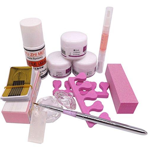 Caldo ragazza nail art kit fai da te acrilico liquido polvere buffer forma penna per, set di strumenti