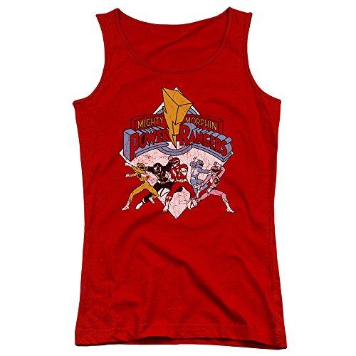 Power Rangers - Junge Frauen Retro Rangers Tank Top, XX-Large, Red
