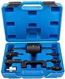 Satz S-IES9 Werkzeug Auszieher zum Ausbau Ausschlagen Injektoren für Mercedes CDI-Motoren 8teilig passend zum Beispiel für Mercedes CDI-Motoren OM 611, OM 612 und OM 613, BMW 525d und 530d