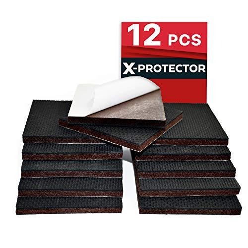 NON SLIP FURNITURE PADS X PROTECTOR U2013 FLOOR PROTECTOR   12 Pcs 75mm Best  Floor