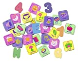 munchkin 60 pieces foam bath learning toy pack girls color girls