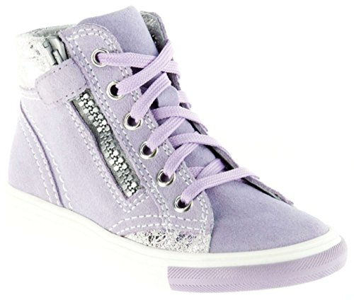 Richter Kinder Halbschuhe Sneaker lila Velour Mädchen Schuhe 3145-142-1420 Thistle WMS Fedora, Farbe:violett, Größe:30 (Mädchen Lila Fedora)