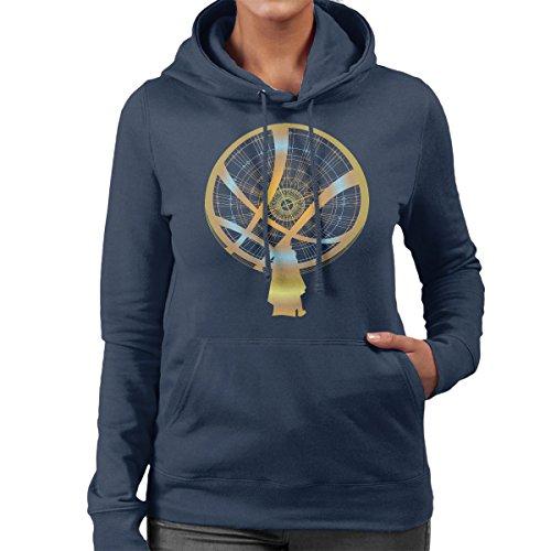 Doctor Strange Mystic Energy Gold Women's Hooded Sweatshirt Navy Blue
