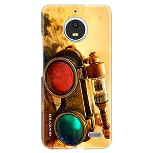 iSweven New Camera design printed matte finish back case cover for Motorola Moto E4