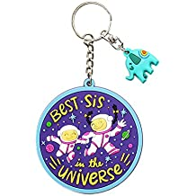 Chumbak PVC Best Sister Keychain (Multicolour)