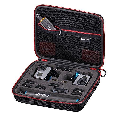 Smatree Smacase G260sl Tasche für Gopro Hero7/Hero2018/6/ 5/4/3/3+,Schwarz&Rot(Kamera und Zubehör nicht enthalten)