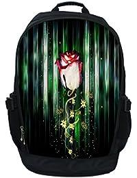 Luxburg® Luxe étui sac à dos/sac à dos pour ordinateur portable 17–Rose x fleurs
