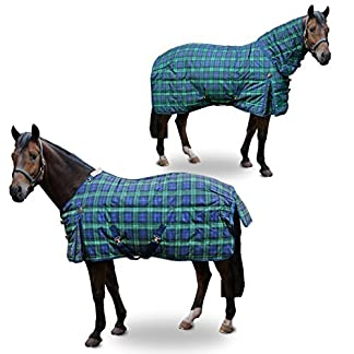 Arizona Heavy Weight Tartan Full Neck Horse Stable Rug Quilted Blanket AND Tigerbox® Antibacterial Pen! 517vxS6T2GL