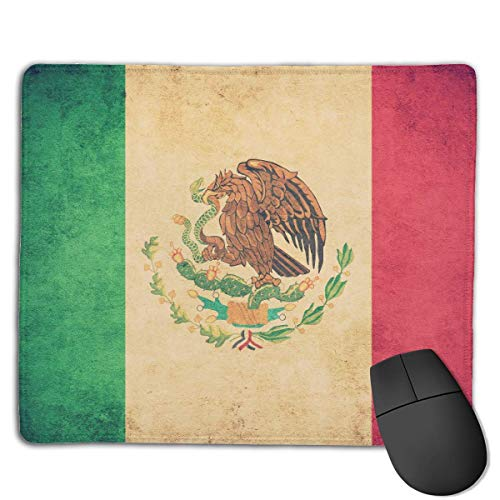 Mexican Flag High Speed Surface Desk Pad Gaming Mousepad (7.22